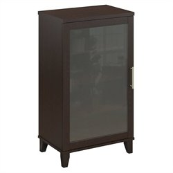 Pemberly Row Audio Cabinet or Bookcase in Mocha Cherry