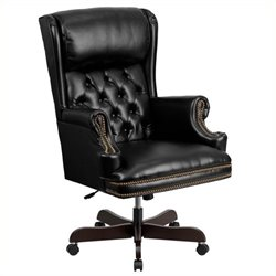Pemberly Row High Back Upholstered Executive Office Chair in Black