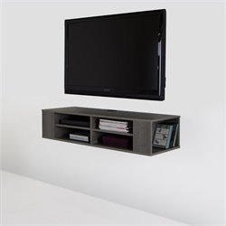 Pemberly Row 48'' Wide Wall Mounted Media Console in Gray Maple