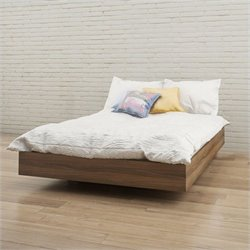 Pemberly Row Full Size Platform Bed in Walnut