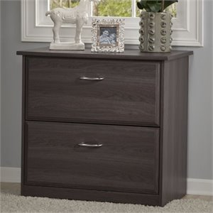 Pemberly Row 2 Drawer File Cabinet in Heather Gray