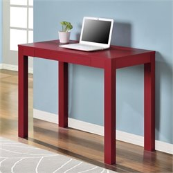 Pemberly Row 1 Drawer Computer Desk in Red