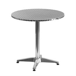 Pemberly Row Aluminum Round Bistro Table