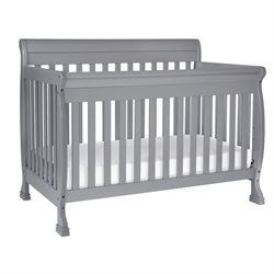 Pemberly Row 4-In-1 Convertible Crib with Bed Conversion Kit in Gray