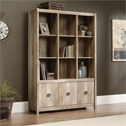 Pemberly Row 9 Cubby Bookcase in Lintel Oak