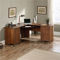 Pemberly Row L Shaped Computer Desk in Washington Cherry