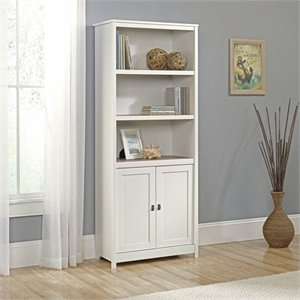 Pemberly Row 3 Shelf Bookcase in Soft White