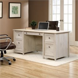 Pemberly Row Executive Desk in Chalked Chestnut