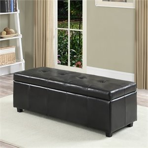 Pemberly Row Storage Bench in Black