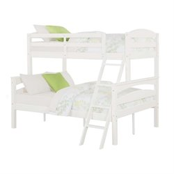 Pemberly Row Twin over Full Bunk Bed in White