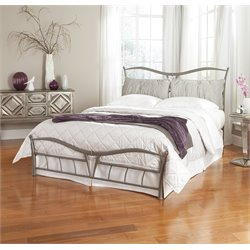 Pemberly Row Full Metal Bed in Brushed Pewter