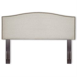 Pemberly Row Full Queen Upholstered Headboard in Grande Pearl