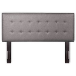 Pemberly Row Full Queen Upholstered Headboard in Dove Gray