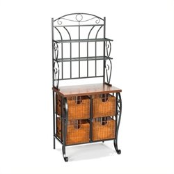 Pemberly Row Storage Bakers Rack