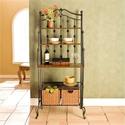 Pemberly Row Baker's Rack in Black
