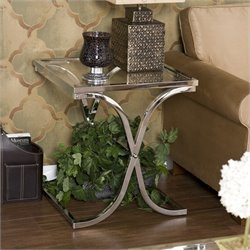 Pemberly Row Chrome End Table