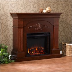 Pemberly Row Electric Fireplace in Mahogany