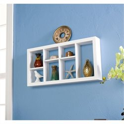 Pemberly Row Display Shelf in White