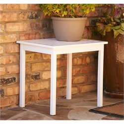 Pemberly Row End Table in Painted White