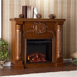 Pemberly Row Electric Fireplace in Salem Antique Oak