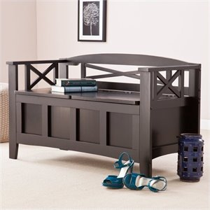 Pemberly Row Storage Bench in Painted Black