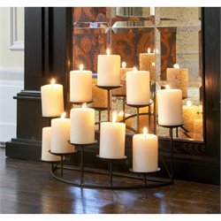 Pemberly Row Metal Candelabra in Black Matte