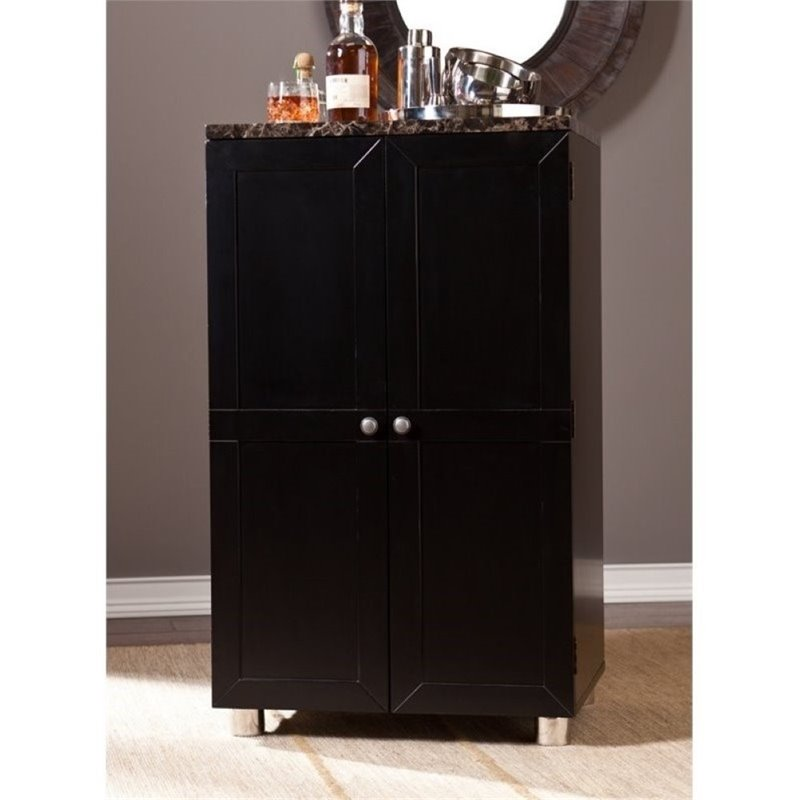 Pemberly Row Cape Town Home Bar Cabinet In Black PR 627560