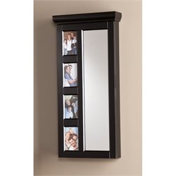 Pemberly Row Moore Photo Jewelry Armoire in Black