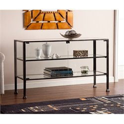 Pemberly Row Display Console Table in Black