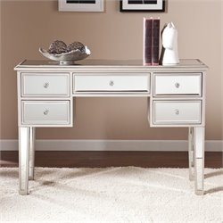 Pemberly Row Mirrored Console Table in Silver