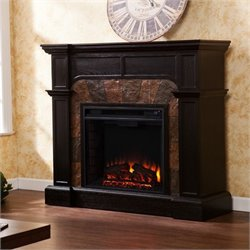 Pemberly Row Electric Fireplace in Ebony