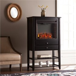Pemberly Row Electric Fireplace Tower in Black