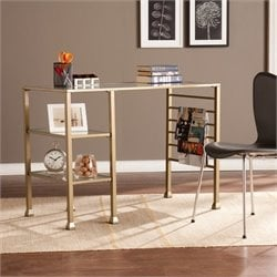 Pemberly Row Writing Desk in Gold