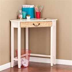 Pemberly Row Corner Writing Desk in White