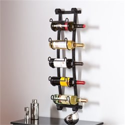 Pemberly Row Wall Mount Wine Rack in Wrought Iron