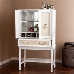 Pemberly Row Bar Cabinet in White