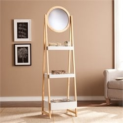 Pemberly Row Storage Shelf with Mirror in Oak