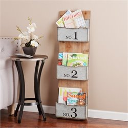Pemberly Row Wall Storage Organizer in Fir and Silver