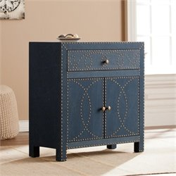 Pemberly Row Double Door Accent Chest in Soft Navy