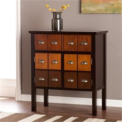 Pemberly Row Apothecary Accent Chest in Espresso