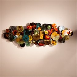 Pemberly Row Metal Wall Sculpture in Multicolor Glaze