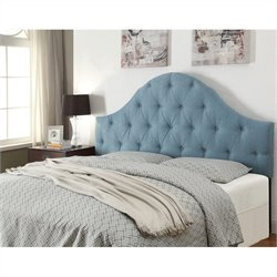 Pemberly Row Upholstered Panel Headboard in Tuxedo Seafoam