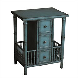 Pemberly Row 3 Drawers Table in Blue