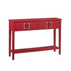 Pemberly Row Console Table in Red