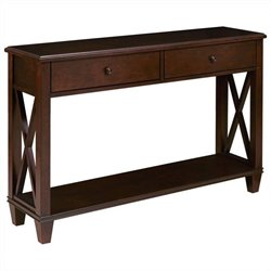 Pemberly Row Console Table in Dark Wood