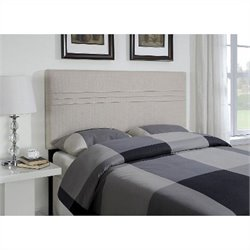 Pemberly Row Panel Full Queen Headboard in Sterling Oyster