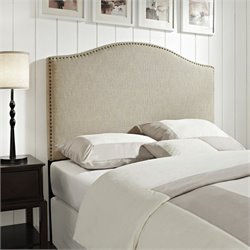 Pemberly Row Full Queen Panel Headboard in Tan