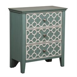 Pemberly Row 3 Drawer Chest in Seafoam