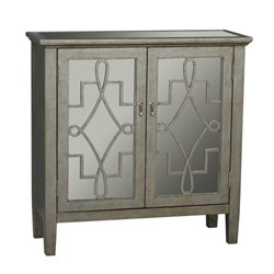 Pemberly Row 2 Door Accent Chest in Gray