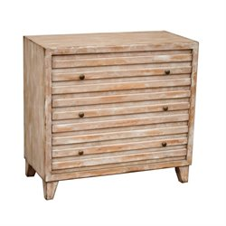Pemberly Row 3 Drawer Chest in White Wash